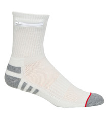 Mens One Size Everyday Security Athletic Travel Pocket Socks - Natural White - Ankle