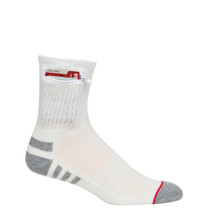 Mens Everyday Security Athletic Travel Pocket Socks - Natural White - Ankle