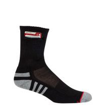 Womens Everyday Security Athletic Travel Pocket Socks - Black - Ankle