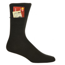 Mens Black Dress Pocket Socks - Three Pack