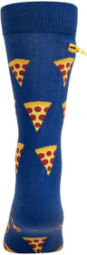 Mens Pizza Party Pocket Socks - Blue - Crew