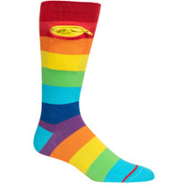 Mens Rainbow Pocket Socks - Multicolor - Crew
