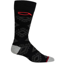 Mens Aztek Pocket Socks - Black with Grey - Crew
