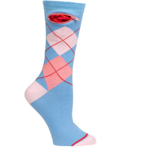 Womens Argyle Pocket Socks - Periwinkle - Crew