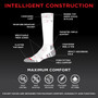 Womens Passport Security Pocket Socks - Natural White - Over the Calf