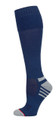 Womens Passport Security Pocket Socks - Denim Navy Blue - Over the Calf