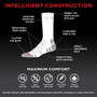 Mens Everyday Security Athletic Travel Pocket Socks - Natural White - Crew
