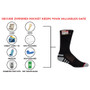 Womens Everyday Security Athletic Travel Pocket Socks - Black - Crew
