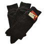 Womens Black Dress Pocket Socks - Three Pack