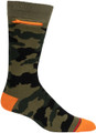 Mens Camouflage Pocket Socks - Green and Orange - Crew
