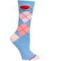 Argyle Periwinkle, Pocket Socks, Womens