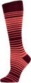 Womens Knee High Pocket Socks - Burgundy