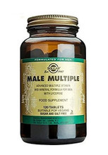 Solgar 	Male Multiple Non Flavoured 120 Tabs