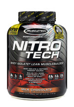 NitroTech Performance Whey Isolate 4LB Chocolate