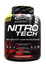 NitroTech Performance Whey Isolate 4LB Strawberry