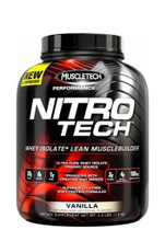 NitroTech Performance Whey Isolate  4LB Vanilla