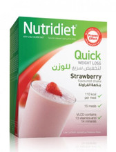 Nutridiet Quick Weight Loss Strawberry Flavoured Shake.