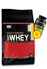 100% Whey Gold STD 10Lb Double Chocolate+ ON Glutamine 300g FREE