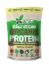 X50 RAW Vegan Organic Protein Vanilla, 1kg by Tribeca Health