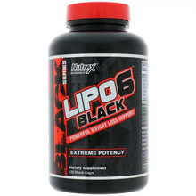 Nutrex Lipo 6 Black 120 Caps - Powerful Weight Loss Support