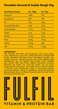 FULFIL PROTEIN BAR CHOCOLATE CARAMEL & COOKIE DOUGH  55G PER PIECE
