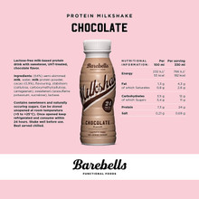 Barebells Milkshake 24G Protein Chocolate - Nutrition Facts