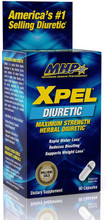 MHP Xpel Maximum Strength Diuretic Water Pills, 80 Capsules