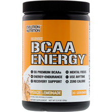 Evlution Nutrition BCAA Energy Peach Lemonade 30 Servings
