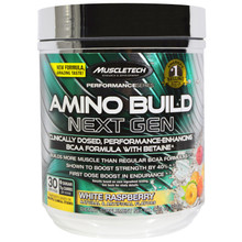 Muscletech, Amino Build, Next Gen BCAA Formula With Betaine, White Raspberry, 9.80 oz (278 g)