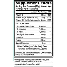 Evlution Nutrition BCAA Energy Pre Workout, Post Workout, Blue Berry Mojito 30 Servings