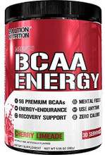 Evlution Nutrition BCAA Energy Pre Workout, Post Workout, Cherry Limeade 30 Servings