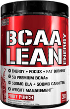 Evlution Nutrition BCAA Lean Energy, Fruit Punch, 30 Servings