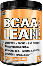 Evlution Nutrition BCAA Lean Energy, Peach Lemonade, 30 Servings