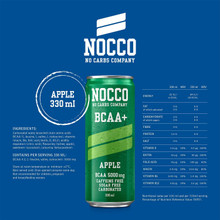 NO CARBS COMPANY NOCCO BCAA+ Apple 24 x 330 ml
