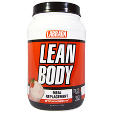 Labrada Nutrition, Lean Body Meal Replacement, Strawberry, 2.47 lb