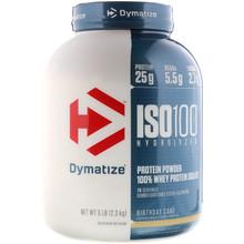 Dymatize Nutrition, ISO 100 Hydrolyzed 100% Whey Protein Isolate, Birthday Cake, 5 lb (2.3 kg)