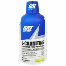 GAT L-Carnitine Liquid Free Form Amino Acid Green Apple 16 oz 473 ml