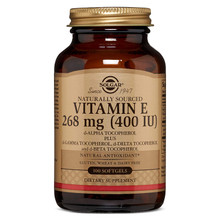 Vitamin E 268 MG (400 IU) d-Alpha Tocopherol & Mixed Tocopherols - 100SG