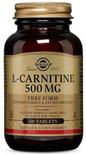 Solgar, L-Carnitine 500 mg 60 Tablets