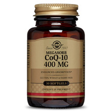 Solgar Megasorb CoQ-10 Supplement, 400 mg, 30 SG