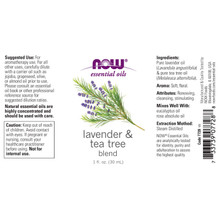 Now Essential Oils, Lavender & Tea Tree Oil, 1 Oz