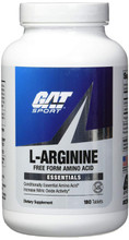 Gat, L-arginine, 180 Tablets