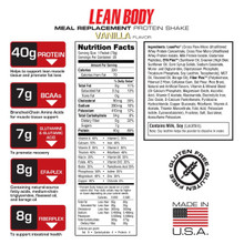 Labrada Nutrition Lean Body Meal Replacement Vanilla 20 Packets