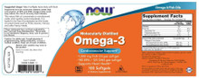 NOW Supplements, Omega-3 100 Softgels