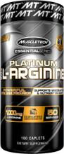 Muscletech Platinum 100% L-Arginine , 100 Caplets