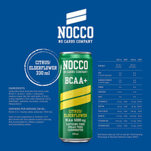 NOCCO BCAA+ Citrus/Elderflower 330 ml
