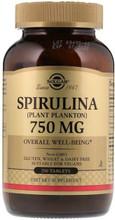Solgar Spirulina 750 mg 250 tabs