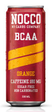 NOCCO Orange (Still) Flavour BCAA Energy Drink, 330ml