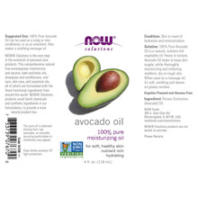 NOW Solutions, Avocado 100% Pure Oil, 4 Oz