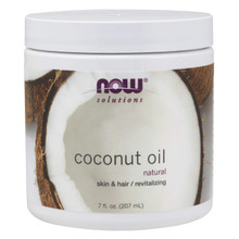 NOW Solutions, Coconut Oil Natural, 7 Oz